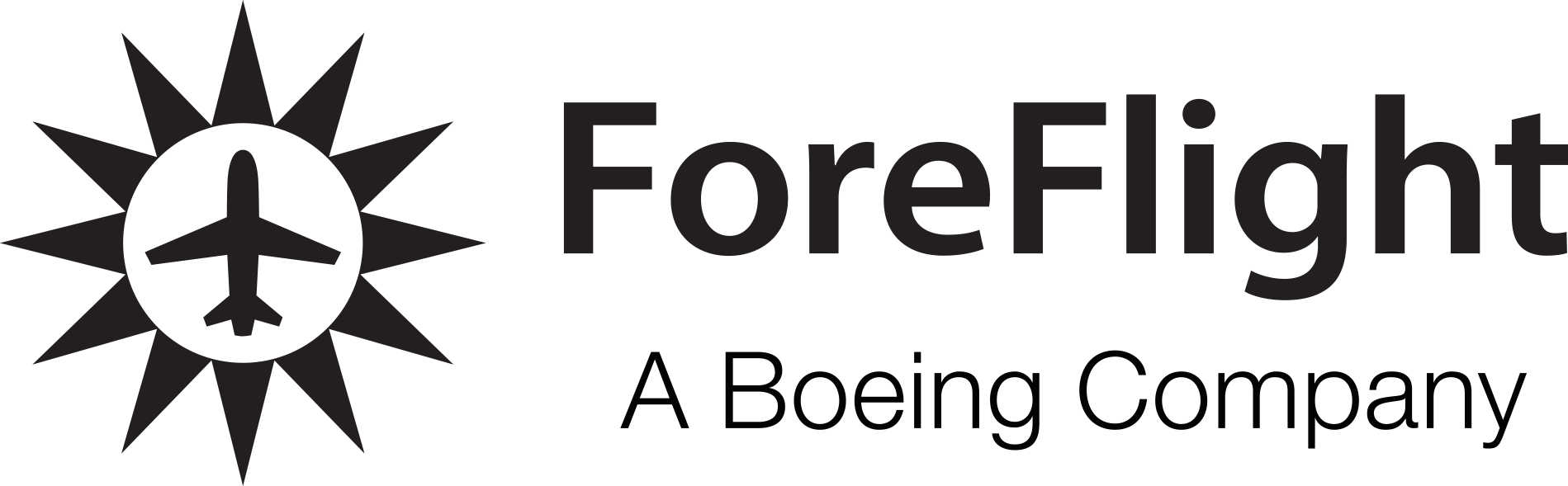 ForeFlight A Boeing Company black